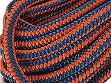 Blue Ox Rope 1/2', 12-Strand Polyester Arborist Climbing, Blue/Orange (100 feet)