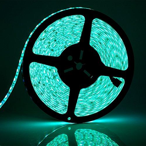 SUPERNIGHT 32.8FT Continous LED Strip Light 5050 SMD RGB Flexible Super Long IP65 Waterproof LED Strip 10M 60LEDs/M 600LEDs/Reel LED Light Tape DC24V Christmas Decorative LED Lighting