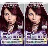 L'Oréal Paris Feria Multi-Faceted Shimmering Permanent Hair Color, V38 Violet Noir, 2 COUNT Hair Dye