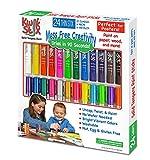 Pencil Grip Kwikstix Thin Stix Solid Tempera Paint 24 Pack, Super Quick Drying, 12 Classic 6 Neon & 6 Metallix Colors, (TPG-620)