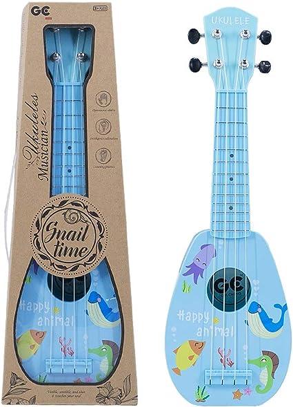 Amazon.com: 17 Inch Kids Ukulele Guitar Toy 4 Strings Mini ...