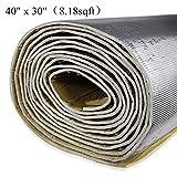 shinehome 6mm/236mil Car Heat Shield Sound Deadener Deadening Heat Insulation Mat Noise Insulation and Dampening Mat Heat Proof Mat 40' x 30'(8.18sqft)