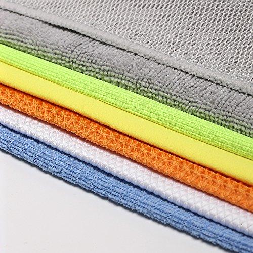 bondre pack 12x12 multi function microfiber cleaning cloths absorbent for home kitchen car. Black Bedroom Furniture Sets. Home Design Ideas
