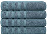 Premium, Cotton Turkish Towel Set, Luxury Hotel & Spa Towel Sets for Maximum Softness and Absorbency by American Soft Linen (Bath Towel Set, Colonial Blue)