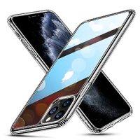 ESR iPhone 11 Pro Max ケース ガラスケース 強化ガラス+TPUバンパーアイホン11 Pro Max カバー 【9H硬度加工 薄型 全透明 黄変防止 安心保護 耐衝撃 ワイヤレス充電対応 安心保護】ストラップホール付き 6.5インチiPhone 11 Pro Max 專用スマホケース(クリア)