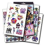 DC Comics Super Hero Girls Fun Set Superhero Girls Stickers & Superhero Girls Tattoos & Specialty PopArt Sticker