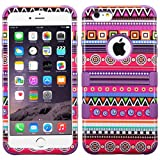 MyBat TUFF Hybrid Phone Protector Cover for Apple iPhone 6 Plus - Retail Packaging - Purple