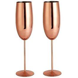 Image result for copper champagne glasses vonshef