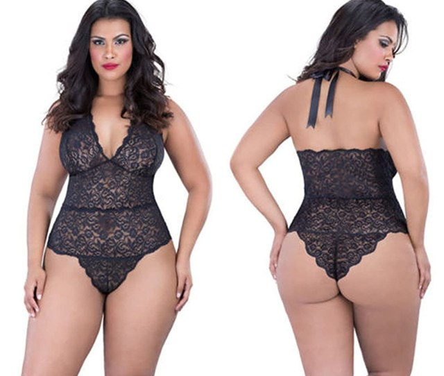 Smile Xl Temptation Fat Girl Underwear Sexy Lace Nightgown Big