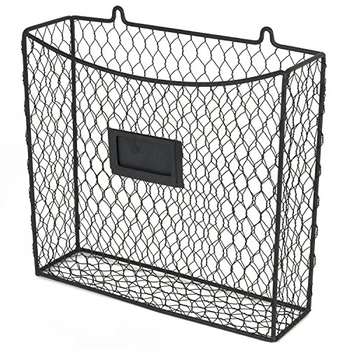 Wall Mount Country Style Chicken Wire Basket Kitchen Utensil ...