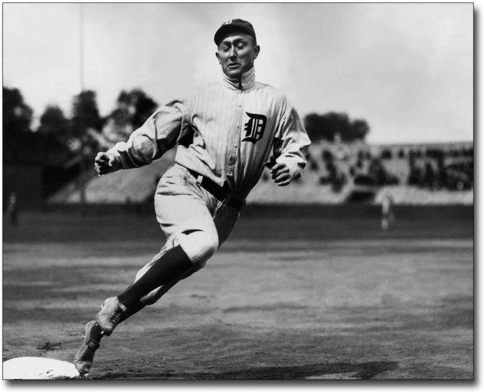 Amazon.com: Ty Cobb Detroit Tigers Running Baseball Bases 8x10 ...