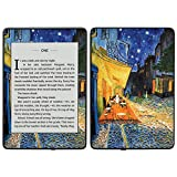 MightySkins Skin Compatible with Amazon Kindle Paperwhite 2018 (Waterproof Model) - Cafe Terrace at Night | Protective, Durable, and Unique Vinyl Decal Cover | Easy to Apply, Remove| Made in The USA