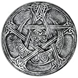 Dryad Design Moon Pentacle Plaque Silver Finish
