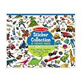 Melissa & Doug Sticker Collection Book, Arts & Crafts, Dinosaurs, Vehicles, Space, and More (500+ Stickers, Great Gift for Girls and Boys - Best for 3, 4, 5, and 6 Year Olds)