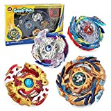 Bey Burst Starter 4 in 1 Battling Top Fusion Metal Master Rapidity Fight with 4D Launcher Grip Se