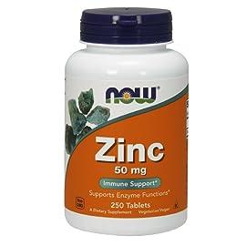 NOW Zinc Gluconate 50mg,250 Tablets
