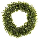 Home 50-152 Artificial Hedyotis 15 inch Round Wreath