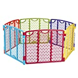 Evenflo Versatile Play Space, Indoor & Outdoor Play Space, Easy & Quick Assembly, Portable, 18.5 Square Feet of Enclosed Space, Durable Construction, For Children 6 to 24 Months, Multi-Color