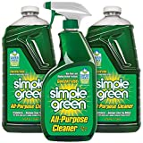 SIMPLE GREEN All-Purpose Cleaner - Stain Remover for Clothing, Fabric & Carpet, Cleans Floors & Toilets, Degreases Ovens & Pans, 32 oz Spray and 2-67.6 oz Refills (Pack of 3)