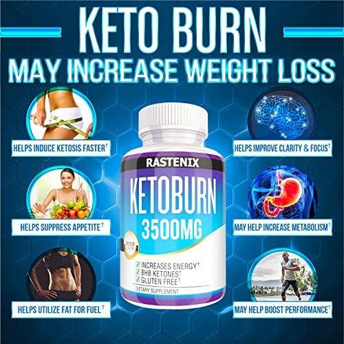 Keto Pills - 3X Potent (2 Pack | 180 Capsules) - Advanced Keto Burn Diet Pills - Boost Energy and Metabolism - Exogenous Keto BHB Supplement for Women and Men (2 Pack) 5