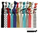 Kenz Laurenz Ribbon Hair Ties Holders (25 Hair Ties)