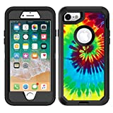 Protective Designer Vinyl Skin Decals/Stickers for OtterBox Defender iPhone 8 & iPhone 7 Case - Tie Dye Design Patterns - Only SKINS and NOT Case - by [TeleSkins]