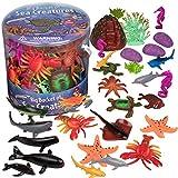 SCS Direct Ocean Sea Creature Action Figures - Big Bucket of Sea Creatures - Huge 30 Piece Set