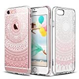 ESR iPhone 6s Case, iPhone 6/6s Case Hybrid, Shock Absorbing, TPU Bumper, Scratch Resistant, Hard Back Cover Clear with Design Protective Cover for iPhone, Pink Manjusaka