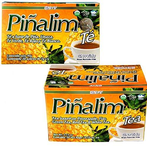 SmileMore Pinalim Tea/Te de Pinalim Mexican Version- Pineapple, Flax, Green Tea, White Tea - 30 Day Supply 3