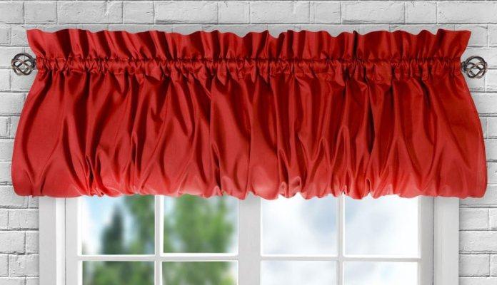Balloon valance curtains for kitchen