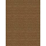 Foss Checkmate Taupe/walnut 6 Ft. X 8 Ft. Indoor/outdoor Area Rug, Features Durable Nonwoven Construction Is Solution Dyed Throughout the Fibers to Resist Fading, Even in Direct Sunlight