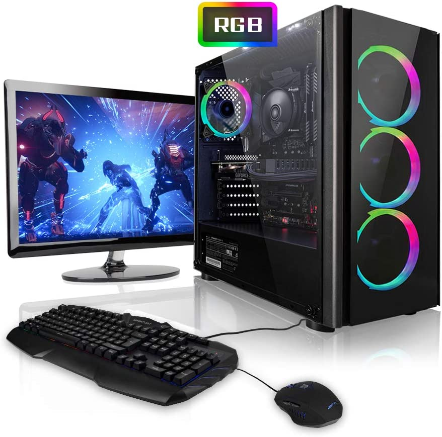 "Megaport Super Méga Pack Reaper - PC Gamer Complet 6-Core AMD Ryzen 5 • Ecran LED 24"" • Claviers de Jeu et Souris • GeForce GTX1660 6Go • 16Go • 240Go SSD • 1To • Win10 PC Gaming PC Complet"