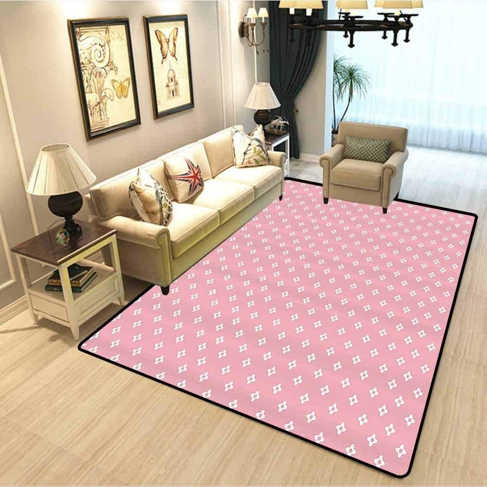 Amazon Com Pink Sweet Romantic Couple Rug Delicate Small Florets | Small Rugs For Stairs | Area Rug | Stair Tread | Wood | Stair Rods | Stair Case