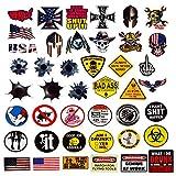 Hard Hat Stickers 50 Pack, BOENFU Union American Patriotic Accessories for Helmet, Hardhat, Welding, Construction, Molon Labe, Military, Ironworker, Lineman, Oilfield, Electrician, Pipeliner