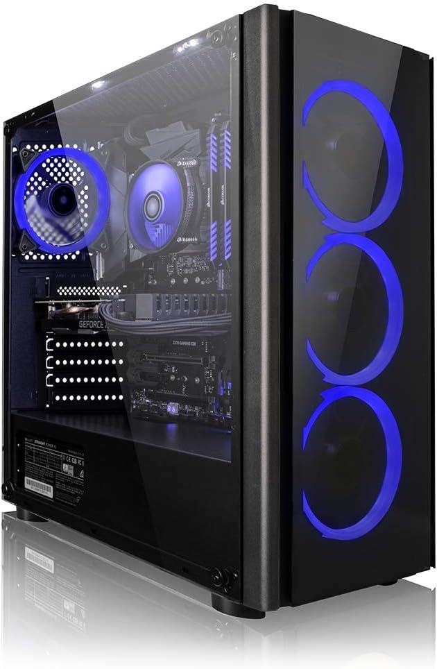 Megaport PC Gamer Vector AMD Ryzen 5 2600 6x3.40 GHz z • GeForce GTX1660 • 16Go RAM • 1To • Windows 10 • Unité Centrale Ordinateur de Bureau PC Gaming PC Ordinateur Gamer