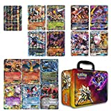 10 Jumbo Pokemon Cards in Collectors Chest Tin 1 Full Art Mega, 1 Mega EX, 3 GX and 5 EX