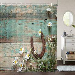 Horseshoe Rustic Shower Curtain