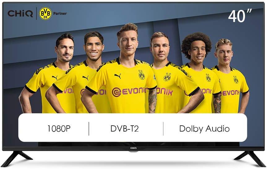 """CHiQ L40G4500 40"""" Full HD LED LCD TV,40 Pouces (101cm), titple tunner (DVBT / T2 / C / S2), Lecteur Multimédia Via Port USB Téléviseur,Dolby Audio,3 HDMI, 2 USB, Direct LED, [Energy Class A]"""