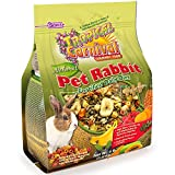 Tropical Carnival F.M. Brown's Natural Rabbit Food, 4-lb Bag - Vitamin-Nutrient Fortified Daily Diet with High Fiber Timothy Hay and Alfalfa Pellets for Optimum Digestion