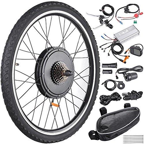 AW 26'x1.75' Rear Wheel Electric Bicycle LCD Display Motor Kit E-Bike Conversion 48V1000W