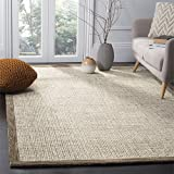 Safavieh Abstract Collection ABT220D Contemporary Handmade Brown and Ivory Premium Wool Area Rug (6' x 9')