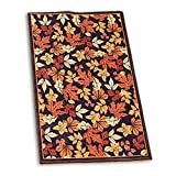 Fall Leaves Accented Printed Throw Rug, Home D�cor
