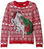 Blizzard Bay Big Boys Ugly Chrismas Sweater Animals, red/white/unicron, L