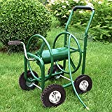PayLessHere Garden Hose Reel Cart with Wheels Heavy Duty Yard Water Planting Holds 300FT Hose 4-Wheel Watering Outdoor Landscape Storage Basket, Green