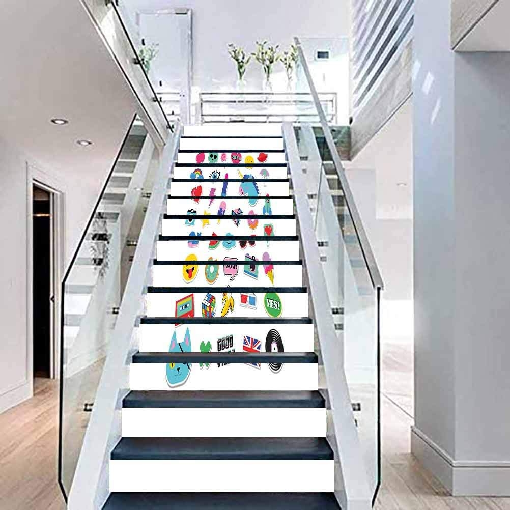 Amazon Com Stairs Self Adhesive Decoration 3D Wall Sticker Pop | Pop Design For Stairs | Ceiling | Living Room | Front Area | Inside | Granite Front Elevation