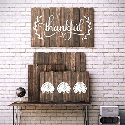 Thanksgiving decor vinyl wall decal autumn art fall for November home decorations