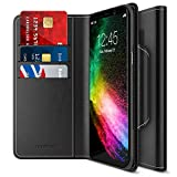 Maxboost Galaxy S8 Plus Wallet Case [Folio Style] [Stand Feature] Samsung Galaxy S8+ / s8 Plus Card Case (2017) [Black] Premium Protective PU Leather Flip Cover w/Card Slot Side Pocket Magnetic