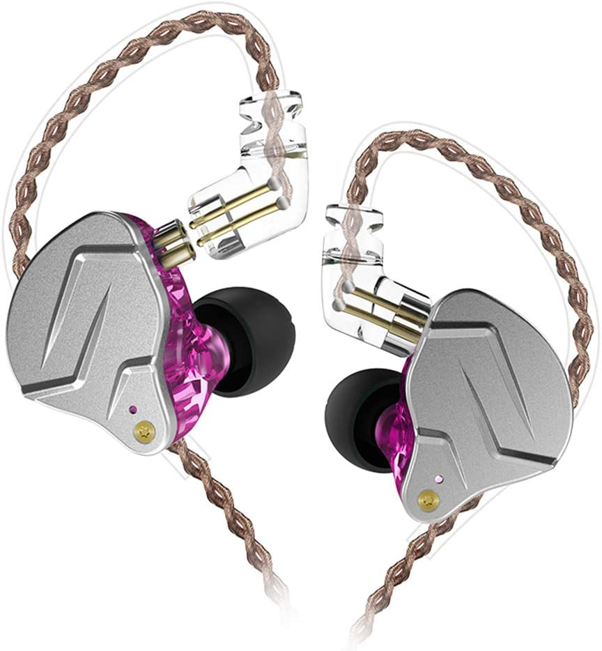 KZ ZSN pro Quad-core Moving Double Circle Earphone-Purple