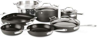 All-Clad Essentials Nonstick Cookware set, 10-Piece, Grey