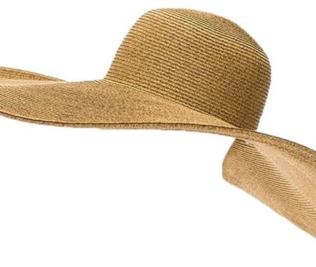 Rpi Huge Straw Floppy Sun Hat Super Wide Brim Beach Hat Sunblocker Hat